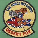 OPERATION DESERT FOX BRITISH ROYAL AIR FORCE CAMPAIGN PATCH