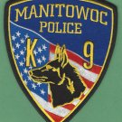 Manitowoc Wisconsin Police K-9 Unit Patch