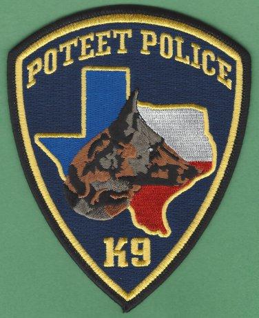 Poteet Texas Police K-9 Unit Patch