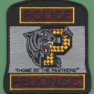 Pelion South Carolina Police Patch