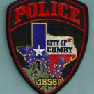 Cumby Texas Police Patch
