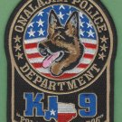 Onalaska Texas Police K-9 Unit Patch