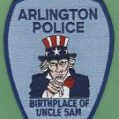 Arlington Massachusetts Police Patch Uncle Sam