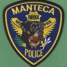 Manteca California Police K-9 Unit Patch Rottweiler