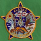 Alaska State Trooper Masonic Lodge Police Patch