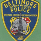 Baltimore City Maryland Police Internal Investigations Division Patch