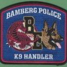 Bamberg South Carolina Police K-9 Unit Patch