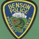 Benson Minnesota Police Patch