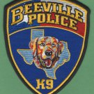 Beeville Texas Police K-9 Unit Patch