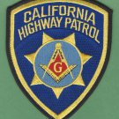 California Highway Patrol Masonic Lodge Police Patch