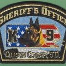 Corson County Sheriff South Dakota Police K-9 Unit Patch