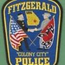 Fitzgerald Georgia Police Patch