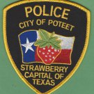 Poteet Texas Police Patch
