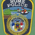 Rome Wisconsin Police Patch