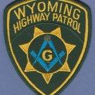Wyoming Highway Patrol Masonic Lodge Police Patch