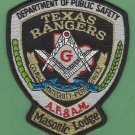 Texas Rangers Public Safety Masonic Lodge Police Patch