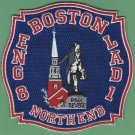 Boston Fire Department Engine 8 Ladder 1 Fire Company Patch NEW
