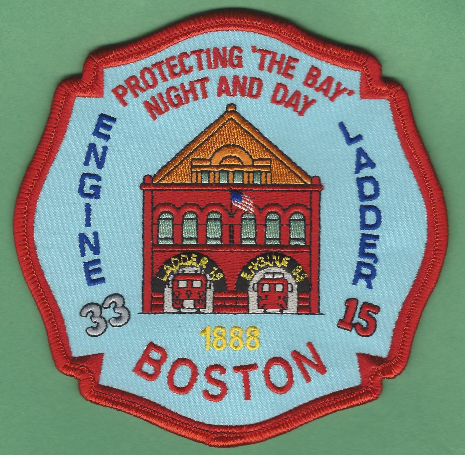 Boston Fire Department Engine 33 Ladder 15 Fire Company Patch