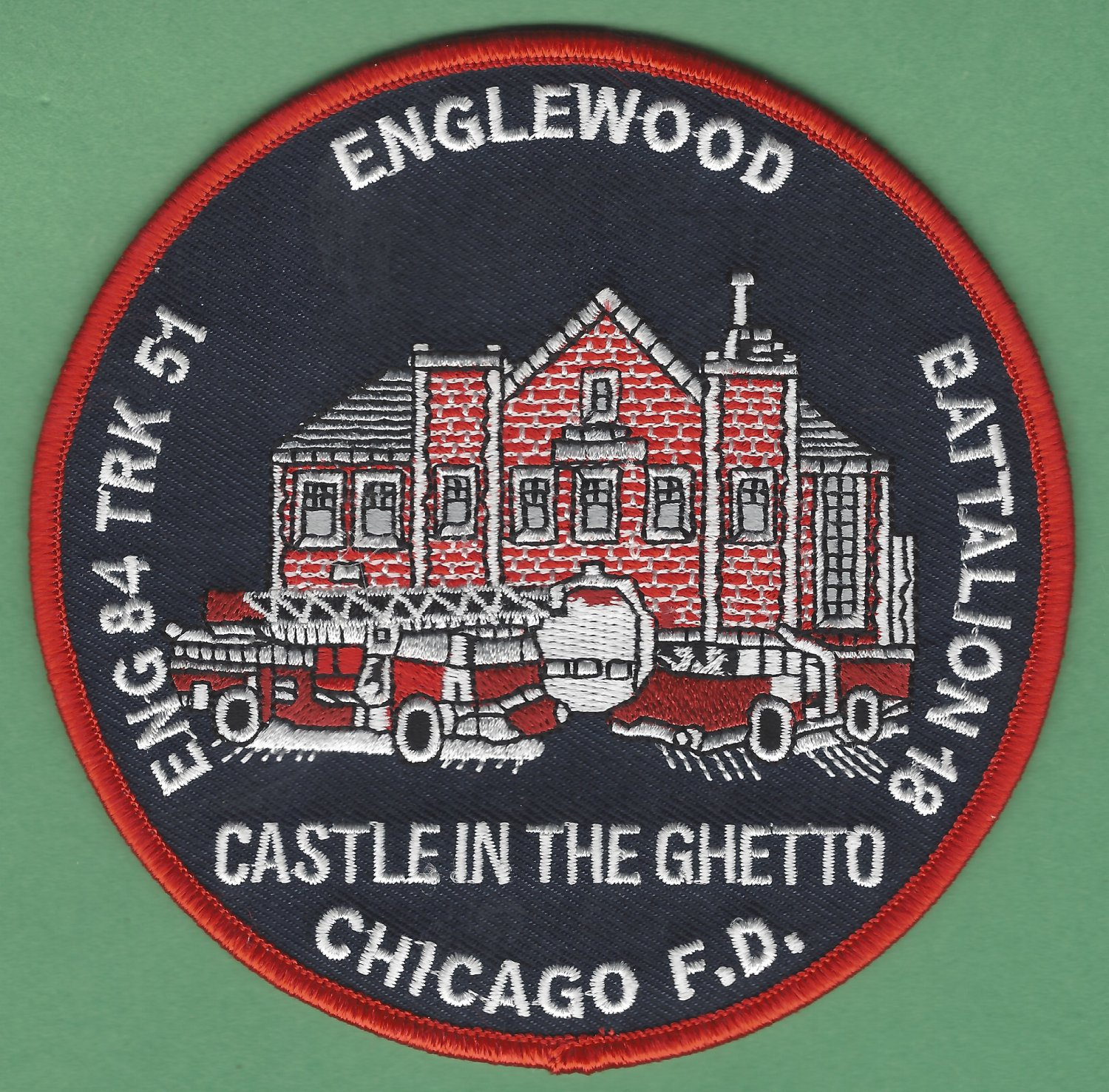 Chicago Fire Department Engine 84 Truck 61 Fire Company Patch