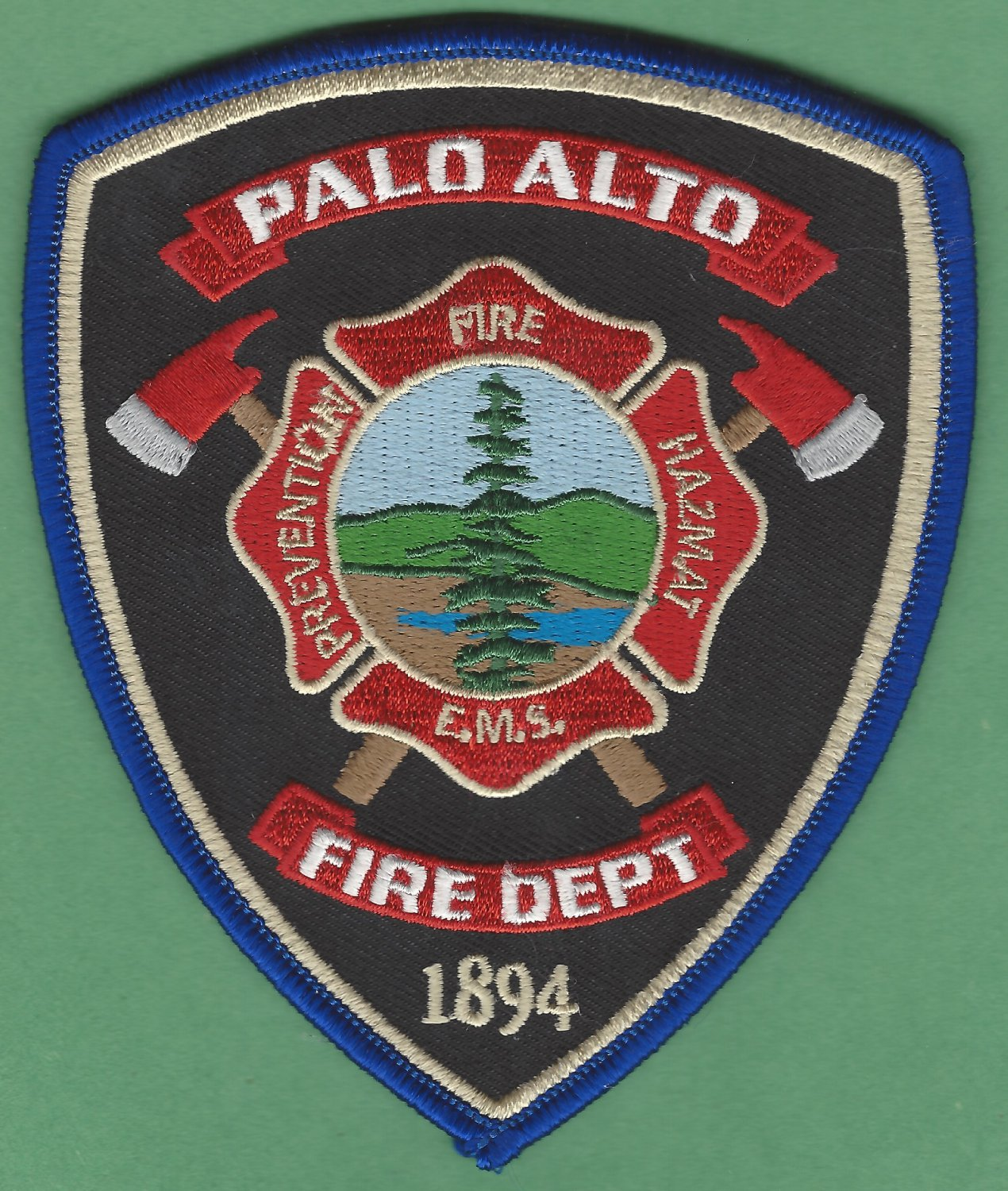 Palo Alto California Fire Rescue Patch