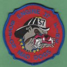 Boston Fire Department Engine Company 37 Fire Patch Bulldog