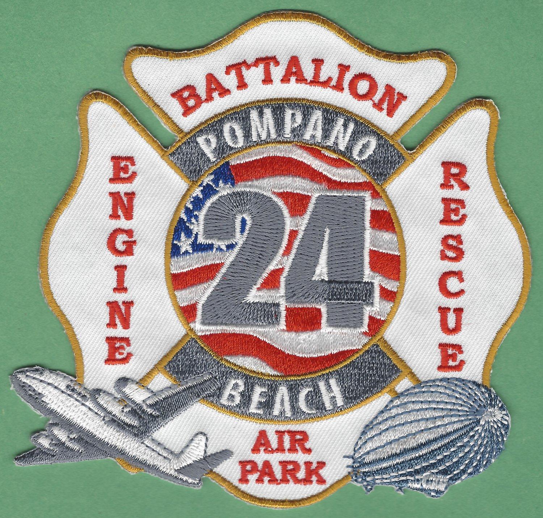 Pompano Beach Airpark Florida Broward County Fire Rescue 24 Patch ARFF
