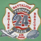 Pompano Beach Airpark Florida Broward County Fire Rescue 24 Patch ARFF