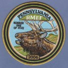 Pennsylvania Rocky Mountain Elk Foundation 2006 Hunting Patch 6""