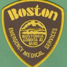 Boston EMS Emergency Medical System Paramedic Patch Brown