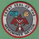 Menominee Nation Wisconsin Tribal Seal Patch