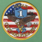 Chicago Fire Department Squad Company 1 Fire Patch