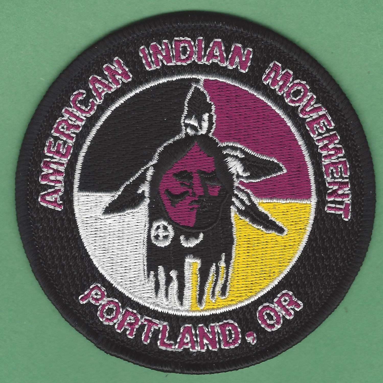 AIM American Indian Movement Portland Oregon Chapter Patch