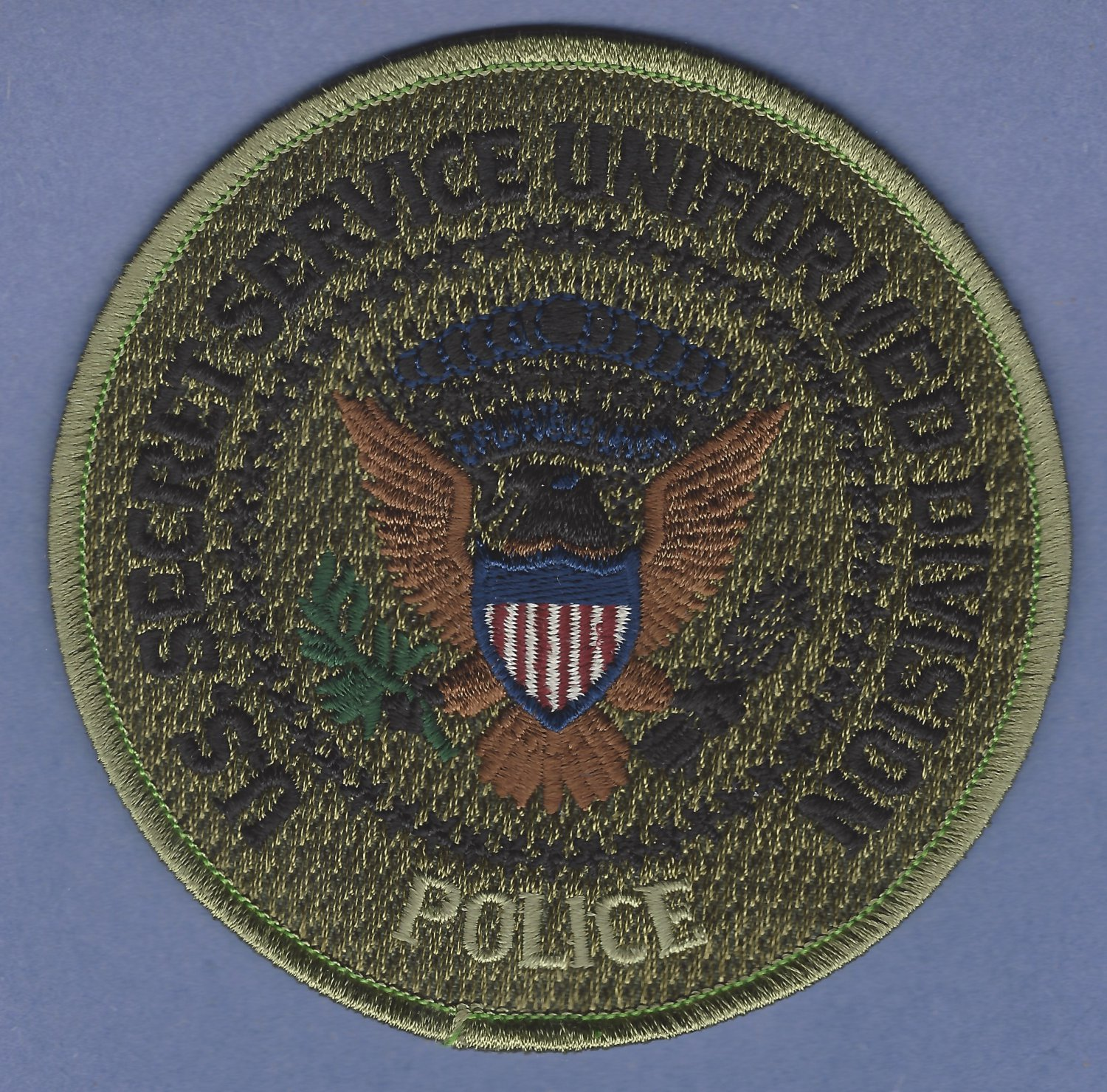 UNITED STATES SECRET SERVICE UNIFORM DIVISION PATCH SUBDUED GREEN