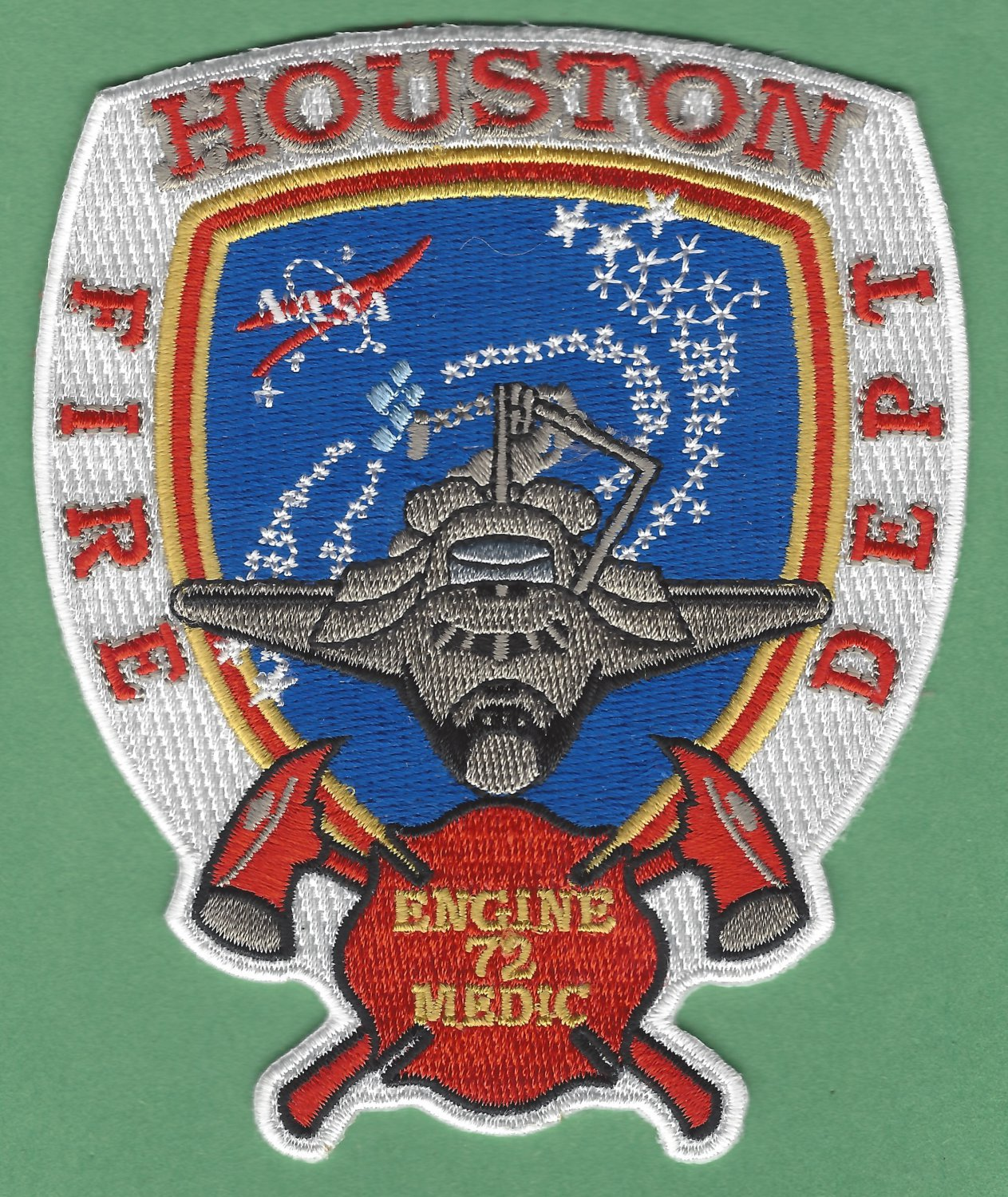 Houston Fire Department Engine Company 72 Patch Johnson Space Center