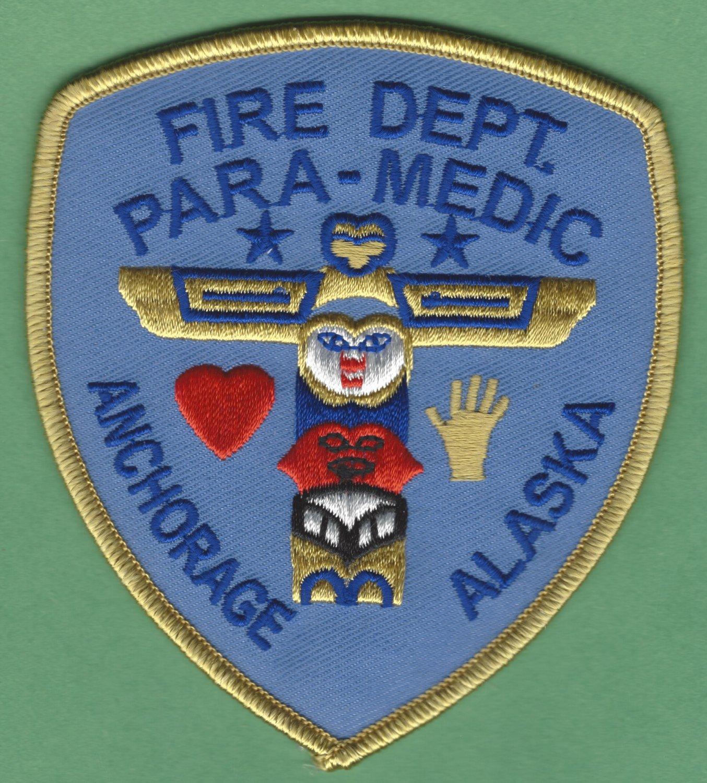 Anchorage Alaska Fire Rescue Paramedic Patch