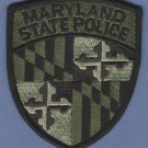 Maryland State Police Patch Tactical Green