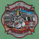 Chicago Fire Department Engine Company 115 Fire Patch