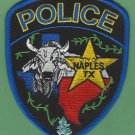 Naples Texas Police Patch