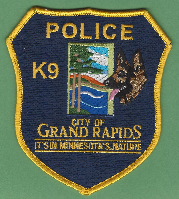 Grand Rapids Minnesota Police K-9 Unit Patch