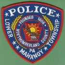 Lower Mahanoy Township Pennsylvania Police Patch