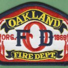 Oakland California Fire Rescue Patch
