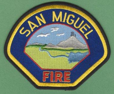 San Miguel California Fire Rescue Patch