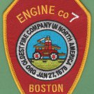 Boston Fire Department Engine Company 7 Fire Patch