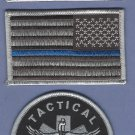 GRAY Tactical Medic Patch Set With Opposing Flags