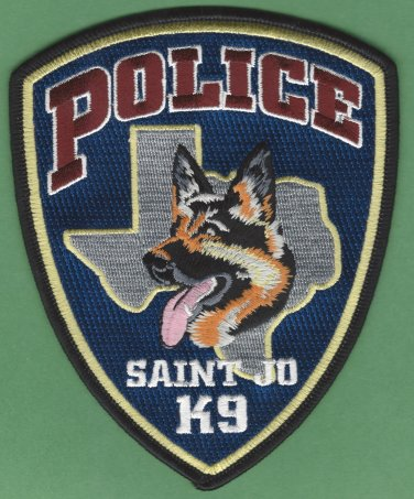 Saint Jo Texas Police K-9 Unit Patch