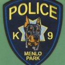 Menlo Park California Police K-9 Unit Patch Doberman