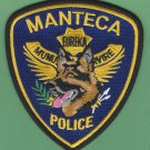 Manteca California Police K-9 Unit Patch German Shepherd
