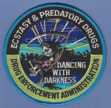 DEA Drug Enforcement Administration Ecstacy & Predatory Drugs Unit Patch