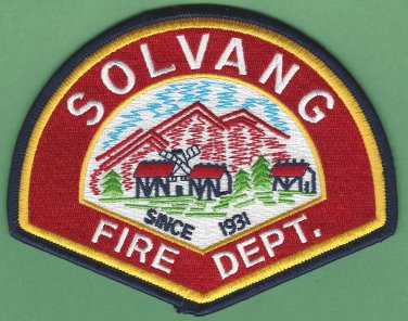 Solvang California Fire Rescue Patch