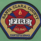 Santa Clara County California Fire Rescue Patch